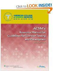 ACSM Exercise Testing Manual