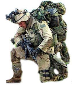 American Army Solider Fully Equipped