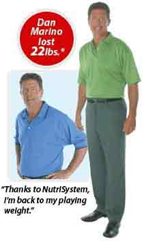 nutri system worked for Dan Marino