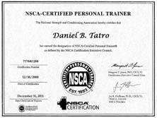 Dan Tatro NSCA CPT