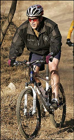 George Bush more Physically fit than Fit for being President
