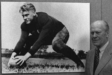 Gerald Ford played for University of Michigan Football