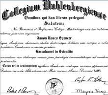 Jason Spencer BS degree