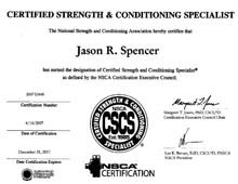 Jason Spencer CSCS