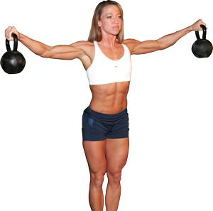 Woman with heavy Kettlebells Bad Choice