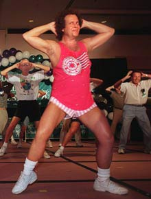 Richard Simmons Fitness Icon