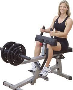 Seated Calf Raises in the Gym