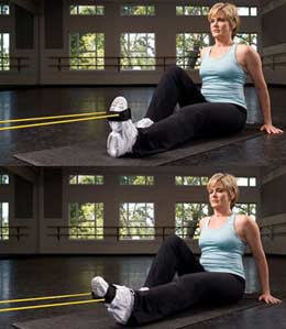 Toe Resistance Band Flexes