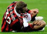 David Beckham Torn Achilles