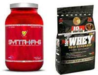 BSN Syntha 6 and Optimum Whey Protein Powder