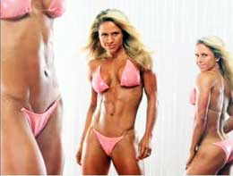 woman in Bodybuilding pose