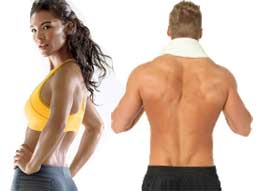 healthy and fit man and woman