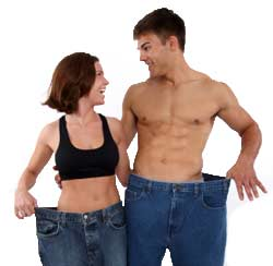 man and woman who lost weight