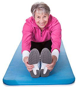 woman over 50 exercising