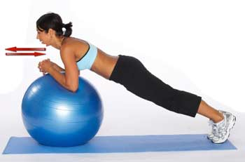 prone ball roll in exercise