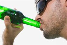 Bodybuilder Drinking Alcohol
