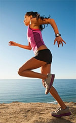 woman jogging to improve physical fitness