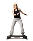 woman performing step up exercise