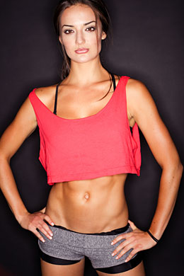fit woman with toned abdominal muscles