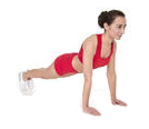 woman performing push up