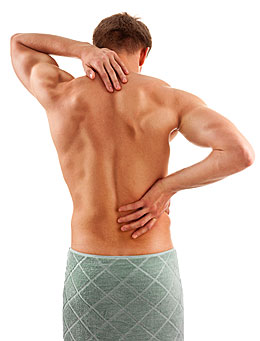 man with sore muscles needing recovery
