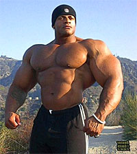 man with lots of muscle mass