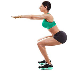Woman Performing Squats