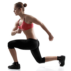 woman performing lunge exercise