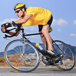 man riding bicycle for fitness