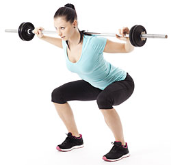 woman performing squat