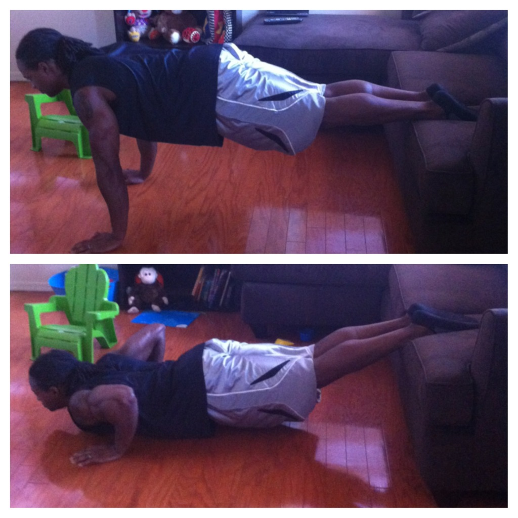 Elevated Feet Push Ups