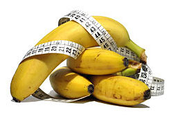 bananas: high sugar / calorie fruit