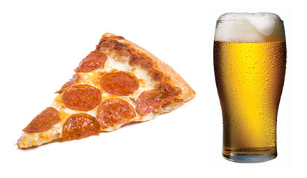 pizza beer temptation poor lifestyle roadblocks for students
