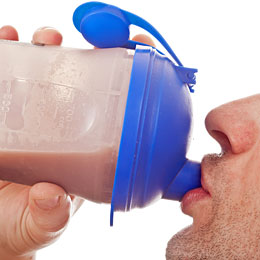 man drinking protein shake for muscle recovery