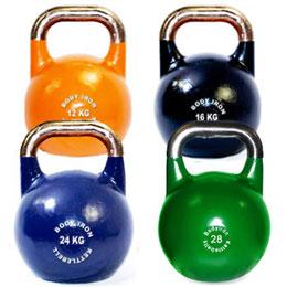 various kettlebells
