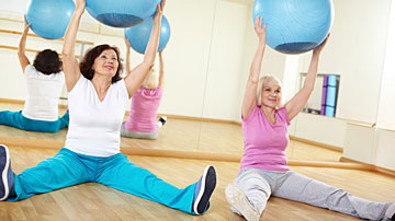 senior group fitness class