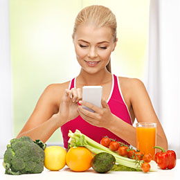 woman assessing nutrition