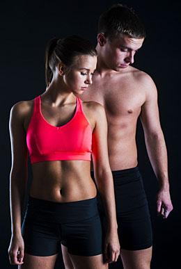 man woman workout photo