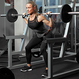 SQUATTING olympic lifts