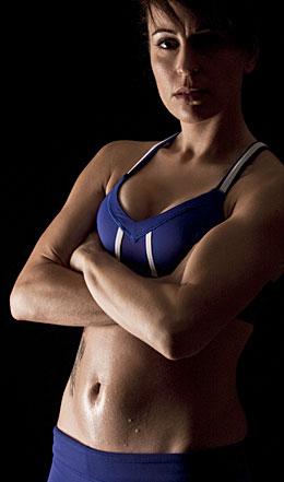 fit woman posing