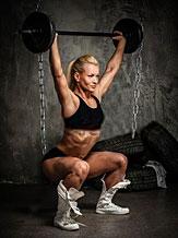 woman using lifting chains