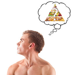 man-food-pyramid