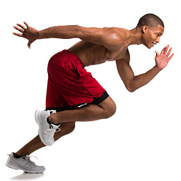 man performing interval training workout