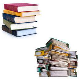 book / binder dumbbels