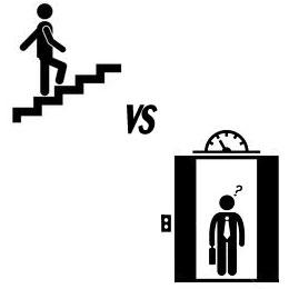 stairs vs elevator
