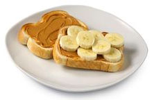 Peanut butter and banana on toasted whole wheat bread