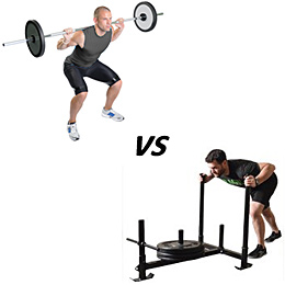 Back Squats Versus The Weighted Sled Push