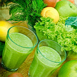 green vegetable smoothie for health