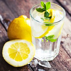 lemon water for health & fitness