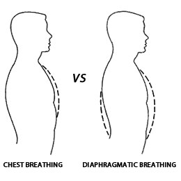 diaphragmatic vs chest breathing